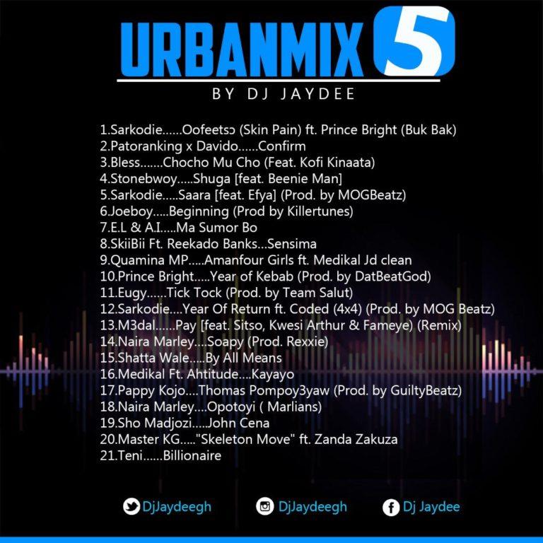 URBANMIX 5(2019 Afrobeat) by Dj Jaydee