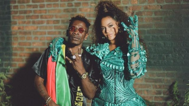 Shatta Wale Shares Amazing Picture of Beyonce and Himself