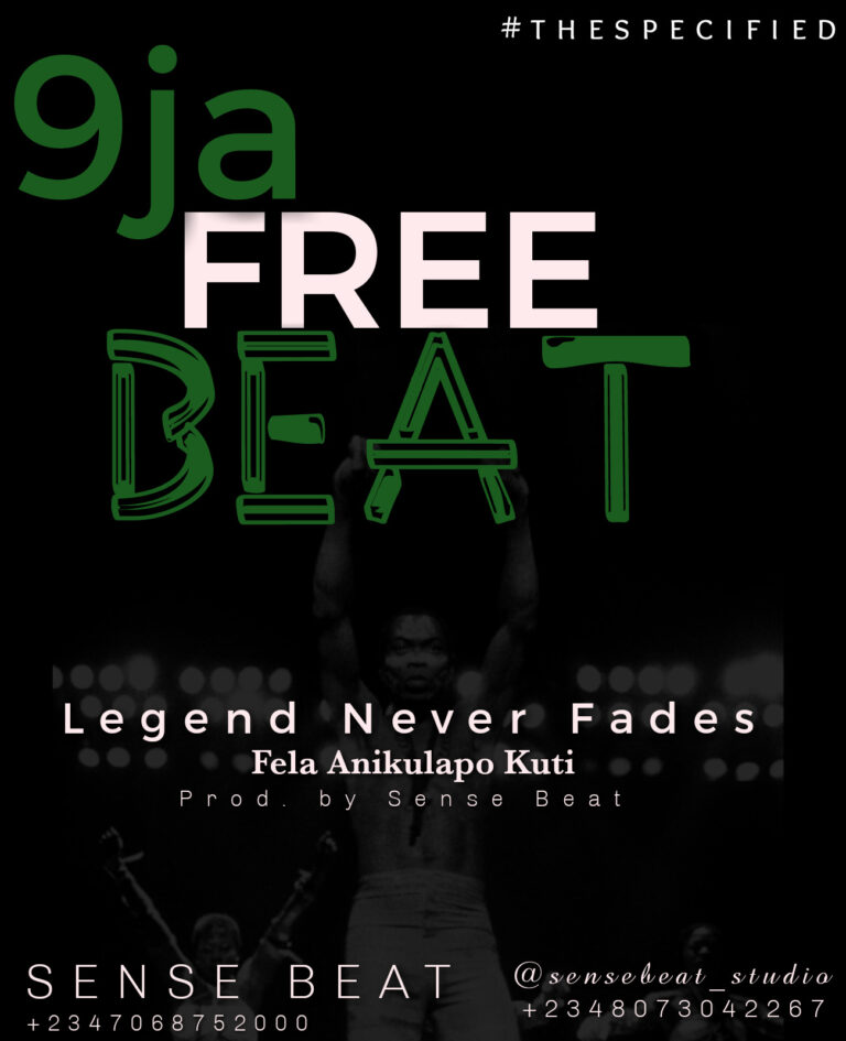 AFRO FREE BEAT (LEGEND NEVER FADES) prod. By sense beatz