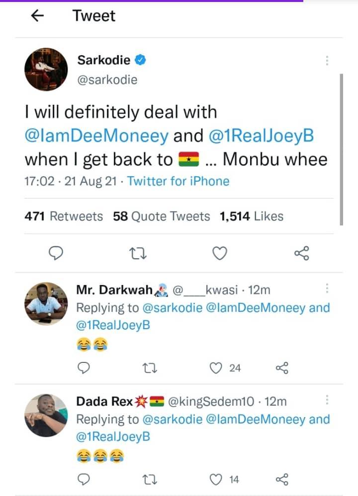 Sarkodie Dee Money Joey B